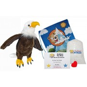"""Liberty the Bald Eagle 16"""" Make Your Own Stuffed Animal- No Sew - Kit with Cute Backpack!"""