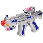 Space Gun With Flashing Light Toy Gift For Kidz