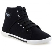 Birde Black Lace-up Casual Shoes