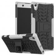 Capa Híbrida Antiderrapante para Sony Xperia XA1 Ultra - Preto / Cinzento