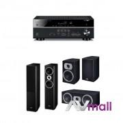 Pachet Receiver AV Yamaha RX-V483 + Pachet Boxe Heco Victa Prime 502 + Boxe Heco Victa Prime 202 + Boxa Heco Victa Prime Center 102