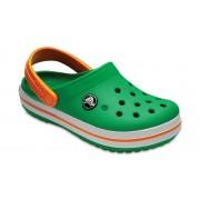Crocs Crocband™ Klompen Kinder Grass Green/White/Blazing Orange 30