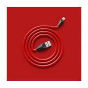 Cablu Date Lightning Remax Aliens Rosu si Negru iPhone 5 5S 6 6S Plus