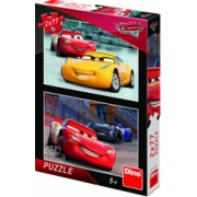 Puzzle 2 in 1 - Cars 3 Cursa cea mare 77 piese