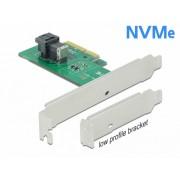 PCI Express cu 1 x SFF-8643 NVMe - Low Profile Form Factor, Delock 90437