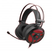 Auricular Gaming kolke Havoc 7.1 Led rojo y negro KGA-252