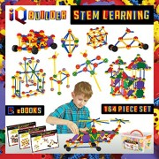 IQ Builder Fun Educational Building Learning Creative Construction Engineering Toy Set for Boys and Girls (5 + Years) - 164 Pcs Kit with Box