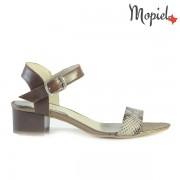 Sandale dama din piele naturala 25634/Np-Croco-Maro/Livia