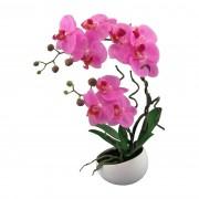 Orhidee artificială în ghiveci, roz, 42 cm