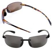 Mass Vision Lovin Maui anteojos de sol polarizadas para hombre y mujer, 2 pares de anteojos de sol polarizadas, Polarizado Negro/Tortuga, M