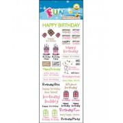 40 stk Happy Birthday Klistermärken