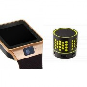 Zemini DZ09 Smartwatch and S10 Bluetooth Speaker for LG OPTIMUS L7(DZ09 Smart Watch With 4G Sim Card Memory Card| S10 Bluetooth Speaker)