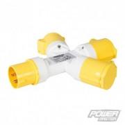 PowerMaster Trojcestný rozbočovač 16 A - 110V 3 Pin 399015 5055058166555