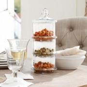 LOBERON Glazen pot met 3 lagen Newport / helder