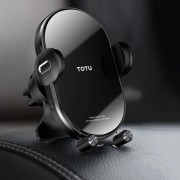 TOTU 15W Wireless Fast Charging Car Charger Car Air Vent Phone Holder - Black