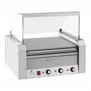 Grelhador de salsichas - 11 cilindros - Gaveta de aquecimento - aço inox