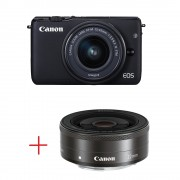 Canon EOS M10 + EF-M 15-45mm IS STM + EF-M 22mm f/2 STM Цифров фотоапарат 20.1MP