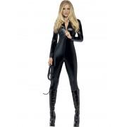 Costum carnaval Femei pisica negru lucios