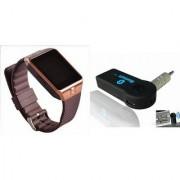 Mirza DZ09 Smart Watch and Car Bluetooth for LG OPTIMUS G (DZ09 Smart Watch With 4G Sim Card Memory Card| Car Bluetooth)