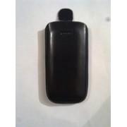 Черен калъф за Nokia C7 от естествена кожа