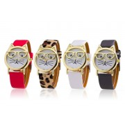 Solo Act Ltd £7.99 instead of £25 (from Styled By) for a women's 'cat geek' watch - choose from leopard print, red, grey or white and save 68%