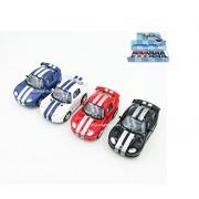 "Brand New DIECAST KINSFUN 3.5"" Display Dodge Viper GTS R Set of 4 No Retail Box KT4020D by KINSFUN"