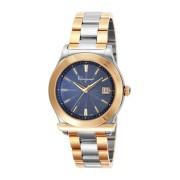 【69%OFF】ラウンドウォッチ デイト ステンレスベルト フェイス:ネイビー ベルト:ゴールドxシルバー ファッション > 腕時計~~メンズ 腕時計