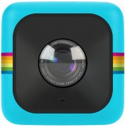 Polaroid Cube+ Wi-Fi 1440p Lifestyle Action Camera with MicroSD Card and Polaroid Bumper Case - Blue
