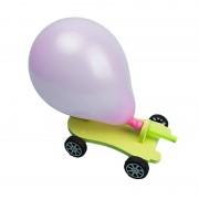 3 STKS DIY ballon Recoil auto creatieve wetenschappelijke kinderen educatieve reactie auto