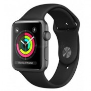 Apple SmartWatch APPLE Watch Series 3 Koperta 38 mm z aluminium w kolorze gwiezdnej szarości z paskiem sportowym w kolorze czarnym MTF02MP/A