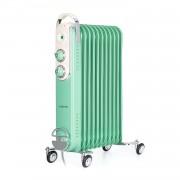 Klarstein Thermaxx Retroheat, маслен радиатор, 2500 W, колела, зелен (HTR6-ThmxRetro25Grün)