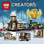 Generic Lepin 36011 Genuine Creative Series The Winter Village 1010Pcs Set Building Blocks Bricks DIY Model 10259 Educational Toys Gifts