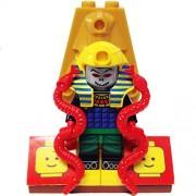 MinifigurePacks: Lego Adventurers - Desert Bundle(1) Pharaoh HOTEP(1) Figure Display Base(2) Figure Accessories (Snakes & Sarcophagus Lid)