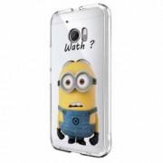 Husa Silicon Transparent Slim Minion Whaaat HTC U Ultra