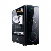 Gabinete YeYian SHADOW 2200 3 Ventiladores LED RGB Vidrio Templado YGS-68808