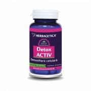 Herbagetica Detox Activ, 60 capsule