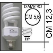 Lampada risparmio energetico 18W E27 Spiral Kapta