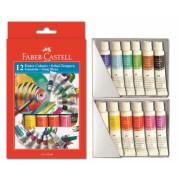 Tempera 12 Culori 12 ML Cutie Carton Faber-Castell