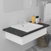 vidaXL Built-in Basin 42x39x18 cm Ceramic White