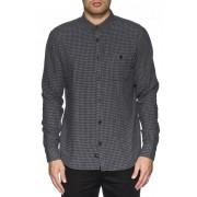 košile pánská GLOBE - Barkly LS - Grey Marle - GB01634008-GRYMRL