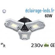 Ampoule led E27 plafonnier 60w blanc 6000K detecteur 230v ref f060-2