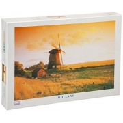"1000 Piece Jigsaw Puzzle, 19.6"" X 29.5"" - Holland Windmill"
