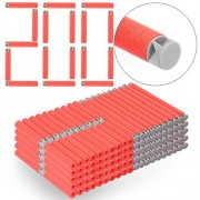Refill Bullets, Yamix 200-Dart Refill Pack Refill Darts Foam Darts for nerf n-strike elite accustrike series blaster - Red