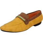 FAUSTO Beige Brown Men's Trendy Loafers