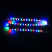 45cm 45 LEDs SMD RGB LED Luz De Tira Flexible Carcasa 2835 Para Coche, Moto, DC 12V