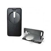 Husa din piele Gigapack S-View Cover pentru telefon Asus Zenfone Go (ZB452KG) , negru