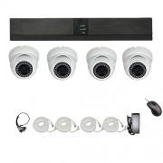 Övervakningssystem PoE 1080P 4 Kameror IP66 4MP