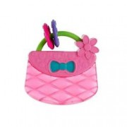 Bright Starts-9063-Posetuta Pretty In Pink Carry and Teethe Purse