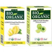 Natural Amla Powder For Reducing Hair Fall And Lemon Peel Powder Pack Of 2