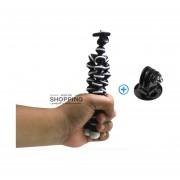 Tripie Flexible Mini Universal + Adaptador Para Gopro